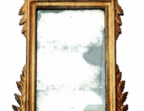 Specchierine dorate Luigi XVI