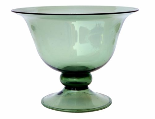 Vaso in vetro verde di Empoli
